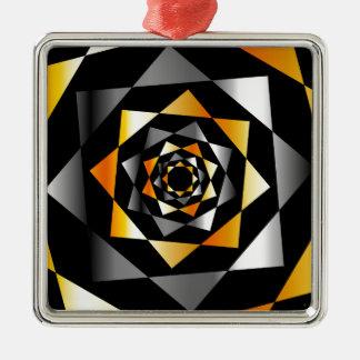 Arabesquebakgrund i metalliska färger julgransprydnad metall