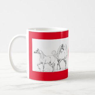 Arabisk hästmugg - arabiska hästar kaffemugg