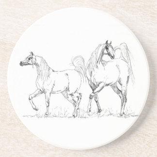 Arabisk hästsandstenkustfartyg - arabiska hästar underlägg