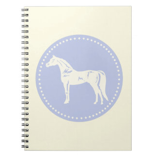 Arabisk hästsilhouette anteckningsbok