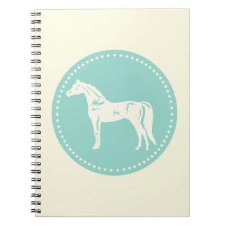Arabisk hästsilhouette anteckningsbok med spiral