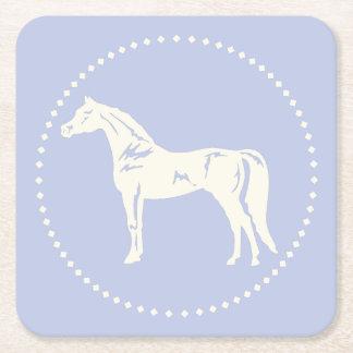 Arabisk hästSilhouette Underlägg Papper Kvadrat
