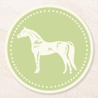 Arabisk hästSilhouette Underlägg Papper Rund