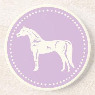 Arabisk hästSilhouette Underlägg Sandsten