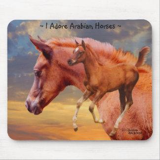 Arabisk hästsoluppgång Mousepad Musmatta