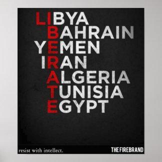 Arabisk våraffisch poster