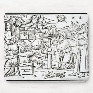 Arabiska astrologer, kopierar av en illustration f musmatta
