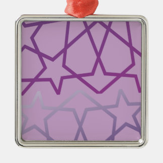 Arabiska inspirerat abstrakt stjärnamönster julgransprydnad metall