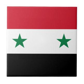 Arabrepubliken Syrien flagga - flagga av Syrien Liten Kakelplatta