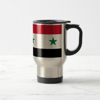Arabrepubliken Syrien flagga - flagga av Syrien Rostfritt Stål Resemugg