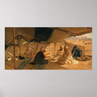 Arabs i öknen, 1871 poster