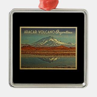 Aracar vulkan Argentina Julgransprydnad Metall
