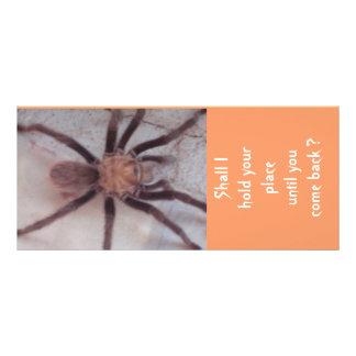 Arachnidanslutningbokmärke Reklamkort