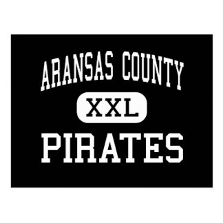 Aransas County - pirater - kick - Rockport Texas Vykort
