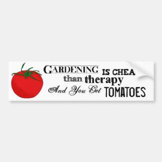 Arbeta i trädgården = terapi + Tomater Bildekal