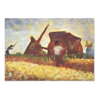 Arbetarna av Georges Seurat 8,9 X 12,7 Cm Inbjudningskort