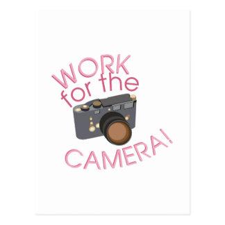Arbete för kamera vykort