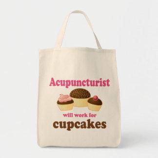 Arbete för muffinsAcupuncturistgåva Tygkasse