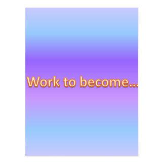 arbete som blir vykort