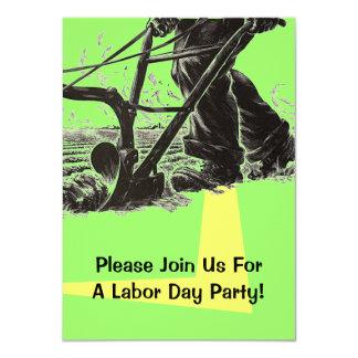 Arbets- lantgård för lantbruk för hårt arbete för 11,4 x 15,9 cm inbjudningskort