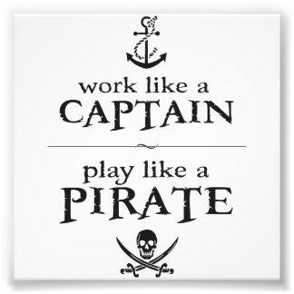 Arbetsnågot liknande en kapten, leknågot liknande  fototryck