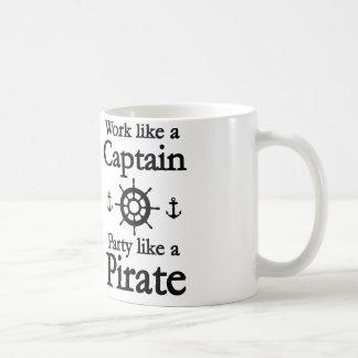 Arbetsnågot liknande en kaptenpartynågot liknande kaffemugg