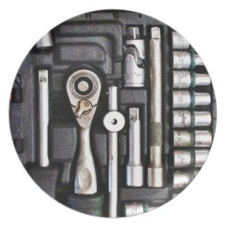 ArbetsToolbox - industriellt tryck Tallrik