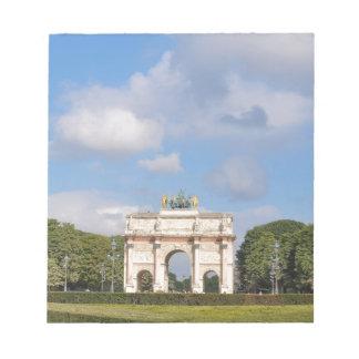 Arc de Triomphe du Carrousel i Paris, frankrike Anteckningsblock