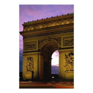 Arc de Triomphe på skymningen, paris, frankrike Brevpapper