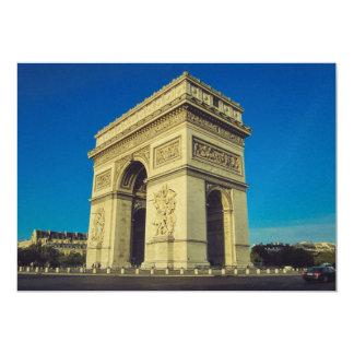 Arc de Triomphe Paris, frankrike 12,7 X 17,8 Cm Inbjudningskort
