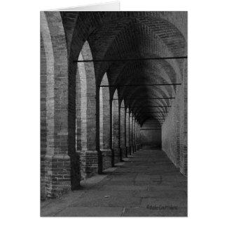 Archs svartvitt hälsningkort hälsningskort