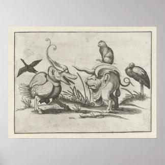 Arent skåpbil Boltens Katt som rider ett monster Poster