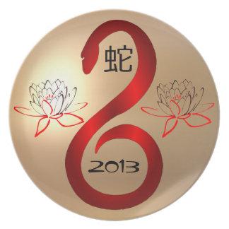 Året av ormen 2013 pläterar tallrik