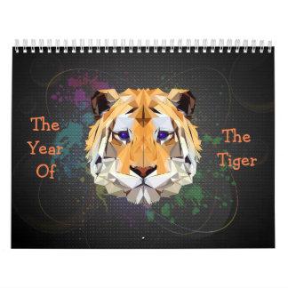Året av tigerkalendern kalender