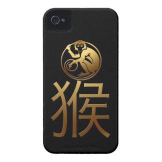 Året för 2016 apa med utföra i relief guld iPhone 4 case