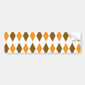 [ARG-BRO-1] Brunt och orange retro argyle Bildekal