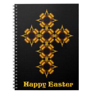 Arg Fractalglad påsk för guld Anteckningsbok