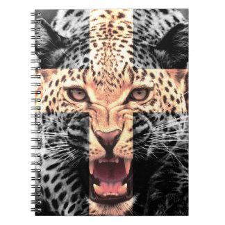 Arg Hipster för Leopard Anteckningsbok Med Spiral