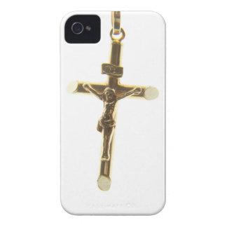 Arg vågrät för Jesus Kristusguld Case-Mate iPhone 4 Case