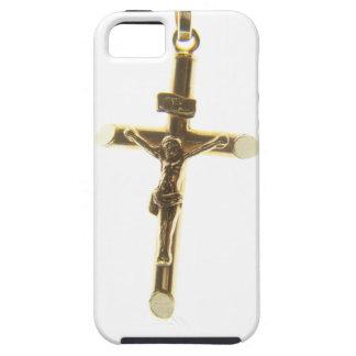 Arg vågrät för Jesus Kristusguld iPhone 5 Case-Mate Skal