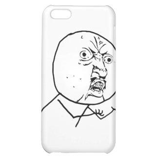 Arg Y U inget ansikte iPhone 5C Mobil Fodral