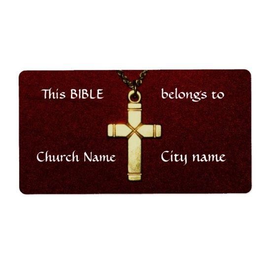 Arga äganderättetiketter för kristen fraktsedel