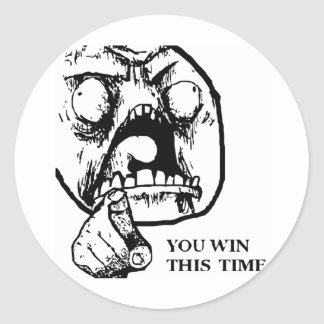 Argen segrar du detta Time ansikte Runda Klistermärken
