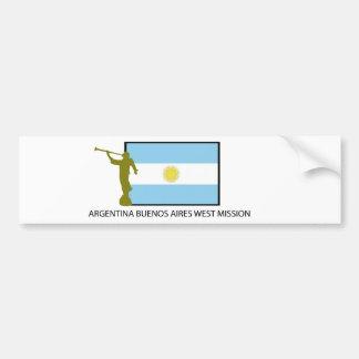 ARGENTINA BUENOS AIRES VÄSTERBESKICKNING LDS BILDEKAL