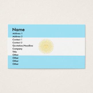 Argentina flagga visitkort