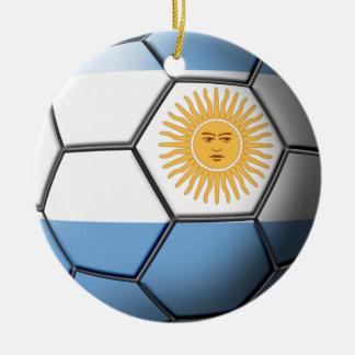 Argentina fotbollprydnad julgransprydnad keramik