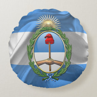 Argentina vapensköld rund kudde