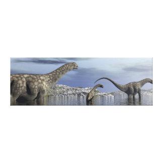 Argentinosaurusdinosaurfamilj Canvastryck