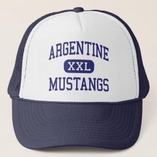 Argentinska Mustangs mellersta Kansas City Kansas Keps