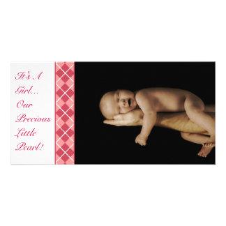 Argyle - det är en flicka…, Vår dyrbara lite pärla Fotokort